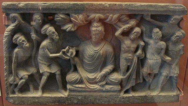 Hercules protecting Buddha